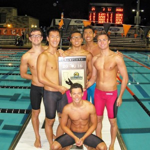 REPRINTED WITH PERMISSION FROM DARREN BELL THE VARSITY SWIM TEAM won the CIF Title on May 14 at Riverside City College.