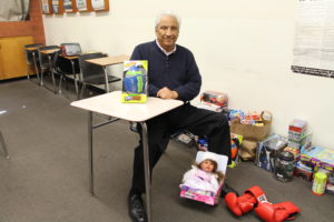 SOCIAL SCIENCE TEACHER LALO DIAZ founded Club Unity over 30 years ago. The organization hosts an annual toy drive.