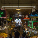 GRAND CENTRAL MARKET, located on Grand Avenue, offers foods from many culture, such as German, Japanese and Mexican.