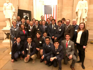 EIGHTEEN STUDENTS AND SIX FACULTY MEMBERS lobbied for social justice in Washington, D.C., from Nov. 12-14.