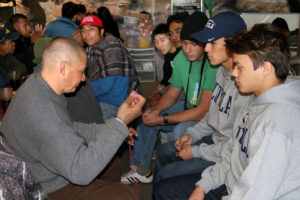 Juniors speek with deported immigrants at the Kino Border Initiative, a Jesuit outreach organization located in Nogales, Arizona.