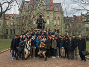 Reprinted with permission from Angela Reno Valvardi: Fifty-two juniors visit the University of Pennsylvania, one of the 17 schools the group toured on the east coast.