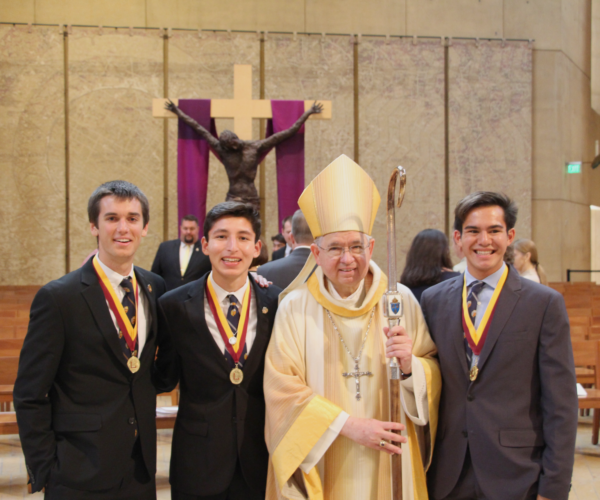 LA Archdiocese honors three seniors with Christian Service Award